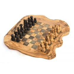 Schachbrett mit Figuren, klein