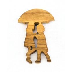 Magnet - Kinder mit Schirm
